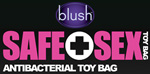blush novelties safe sex toy bag