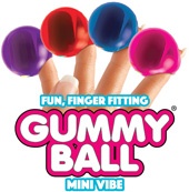 Rock Candy Gummy Ball 5-function Mini Finger Vibe