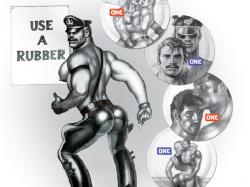 tom of finland use a rubber